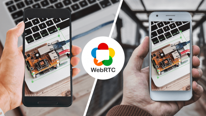 Augmented reality for remote assistance via WebRTC in Android app