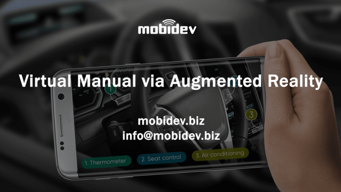Augmented reality-based user instruction manual demo
