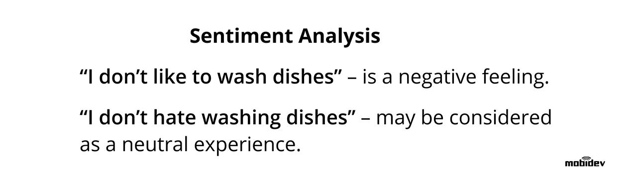 Sentiment analysis NLP task