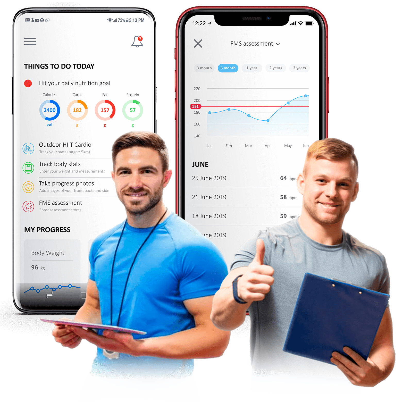 Cross-platform mobile app development for fitness trainers