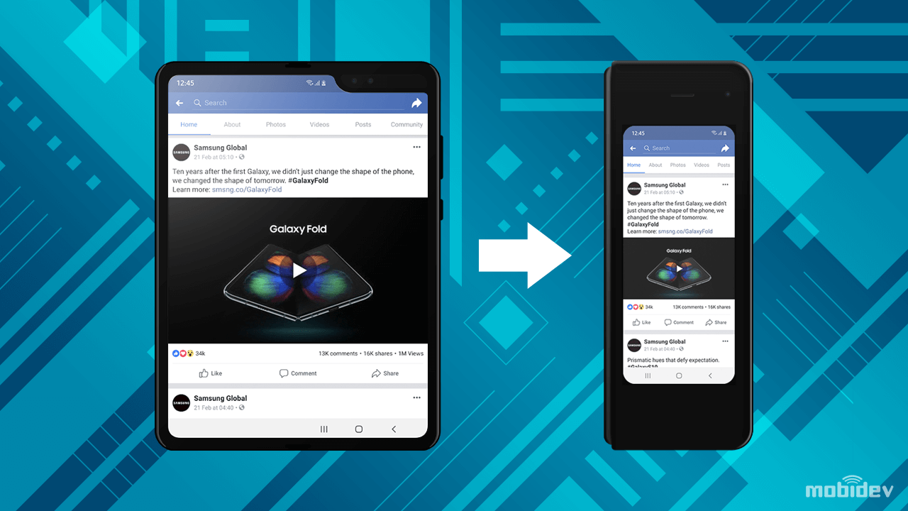 Fold Out Resize for foldable Android screens