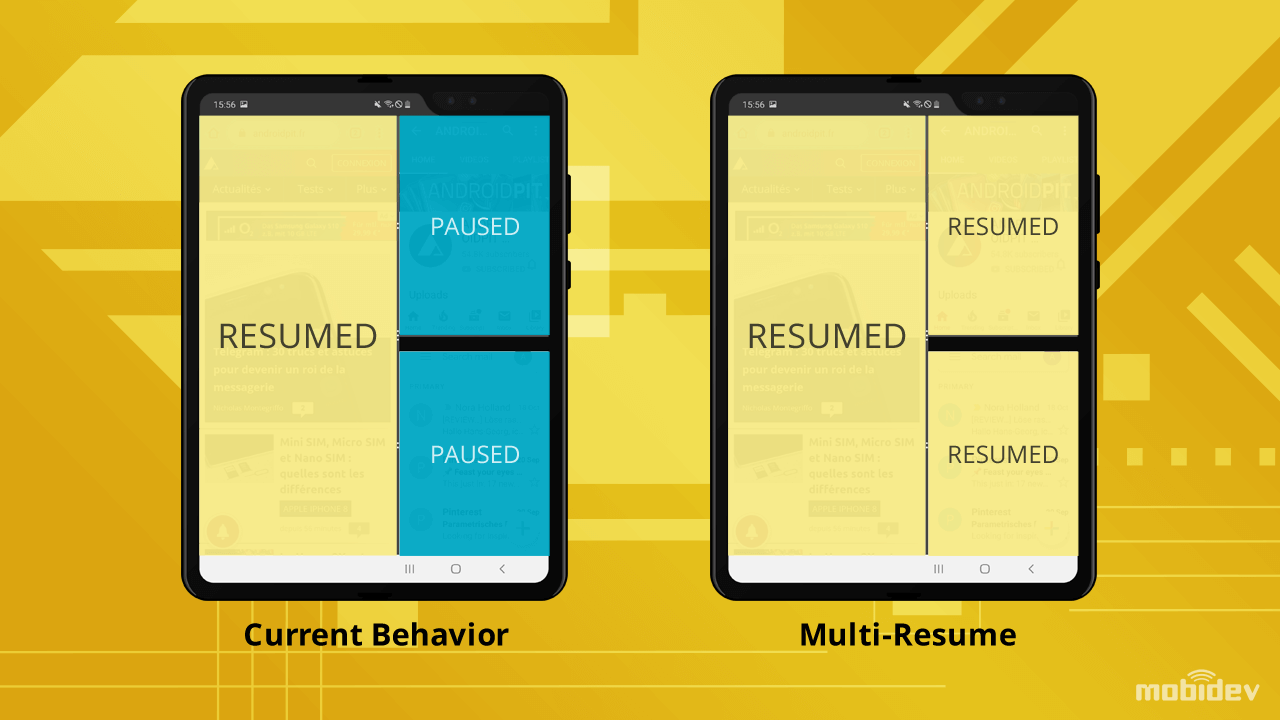 How Multi-Resume will exist in Android