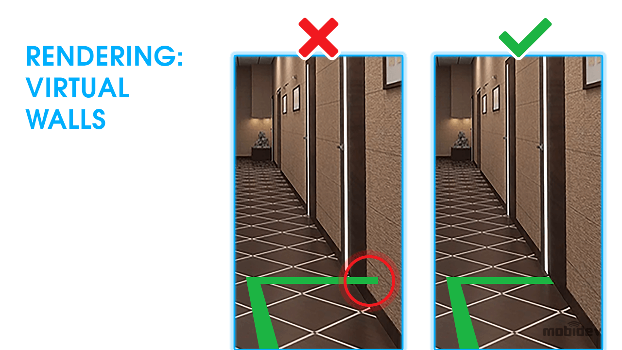 Challenges when drawing indoor navigation routes