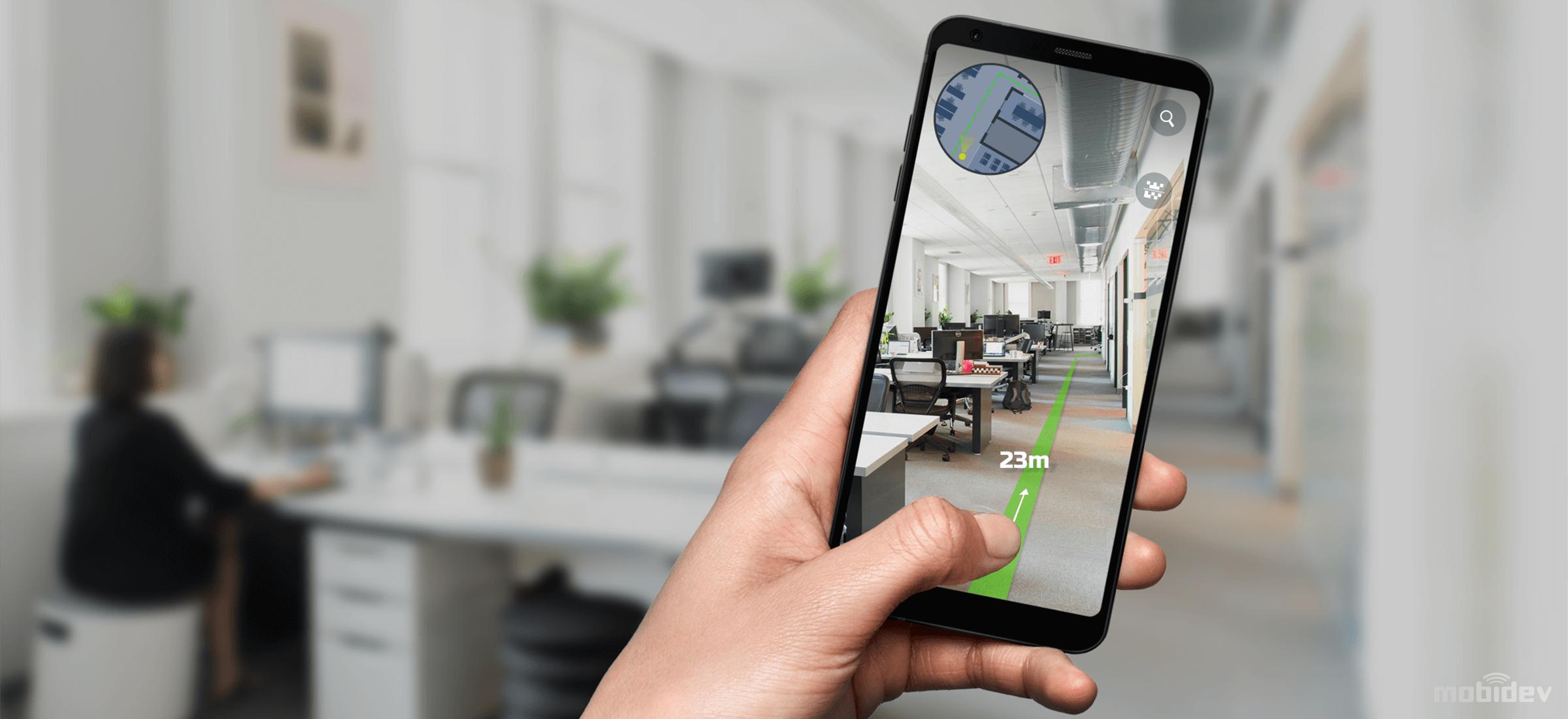 ARKit-based Indoor Navigation Demo