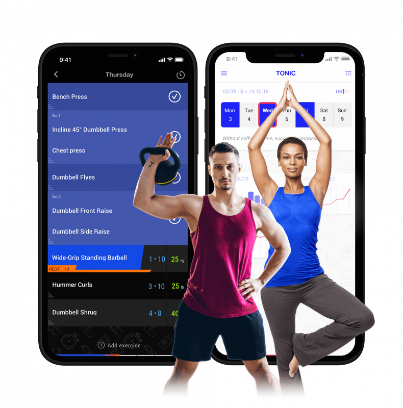 MD Gym, mobile assistant for sportspeople