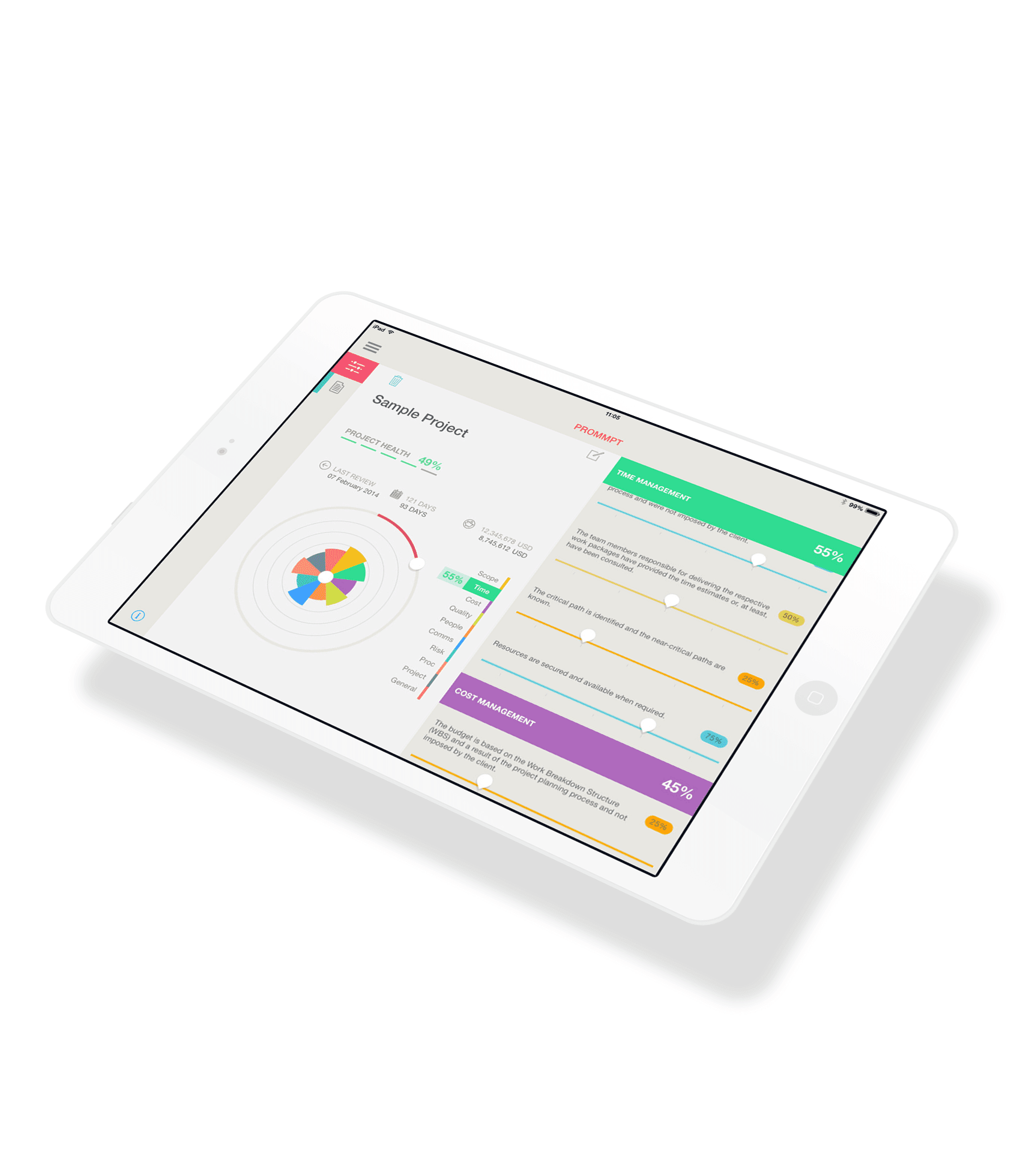 A lightweight iOS application suitable for building, construction, and IT projects