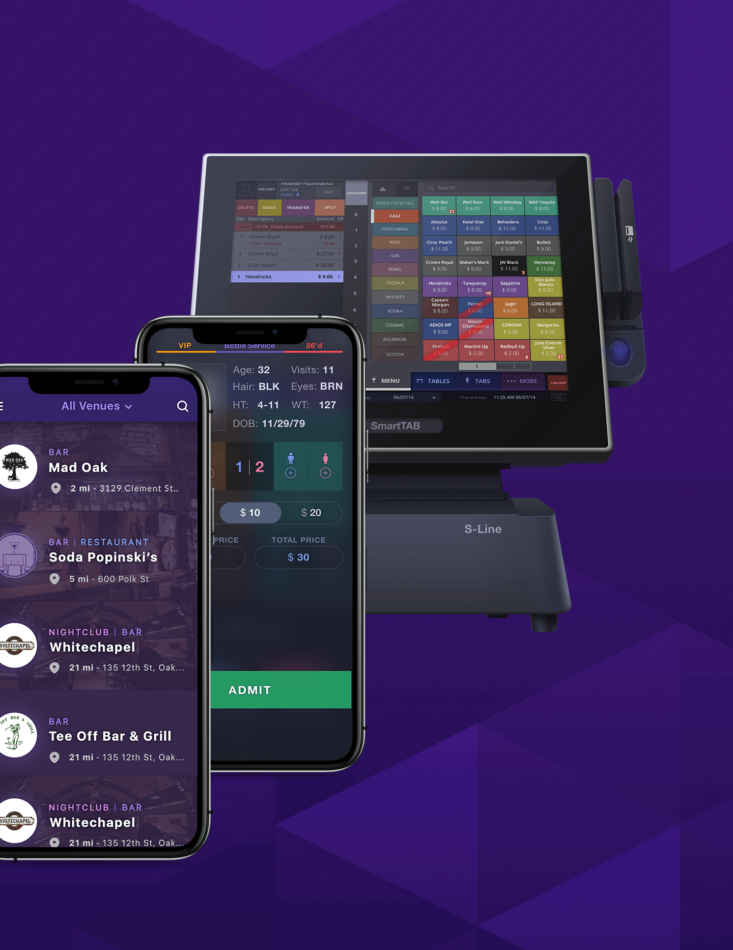 Software for high volume bars, restaurants, and nightclubs