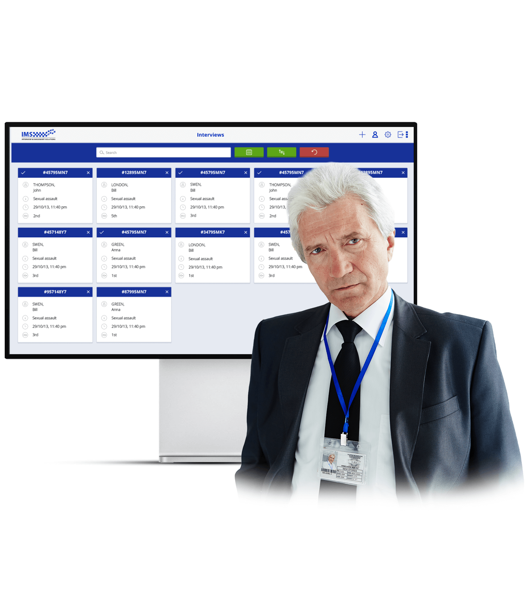 Custom interviewing software development for law enforcements