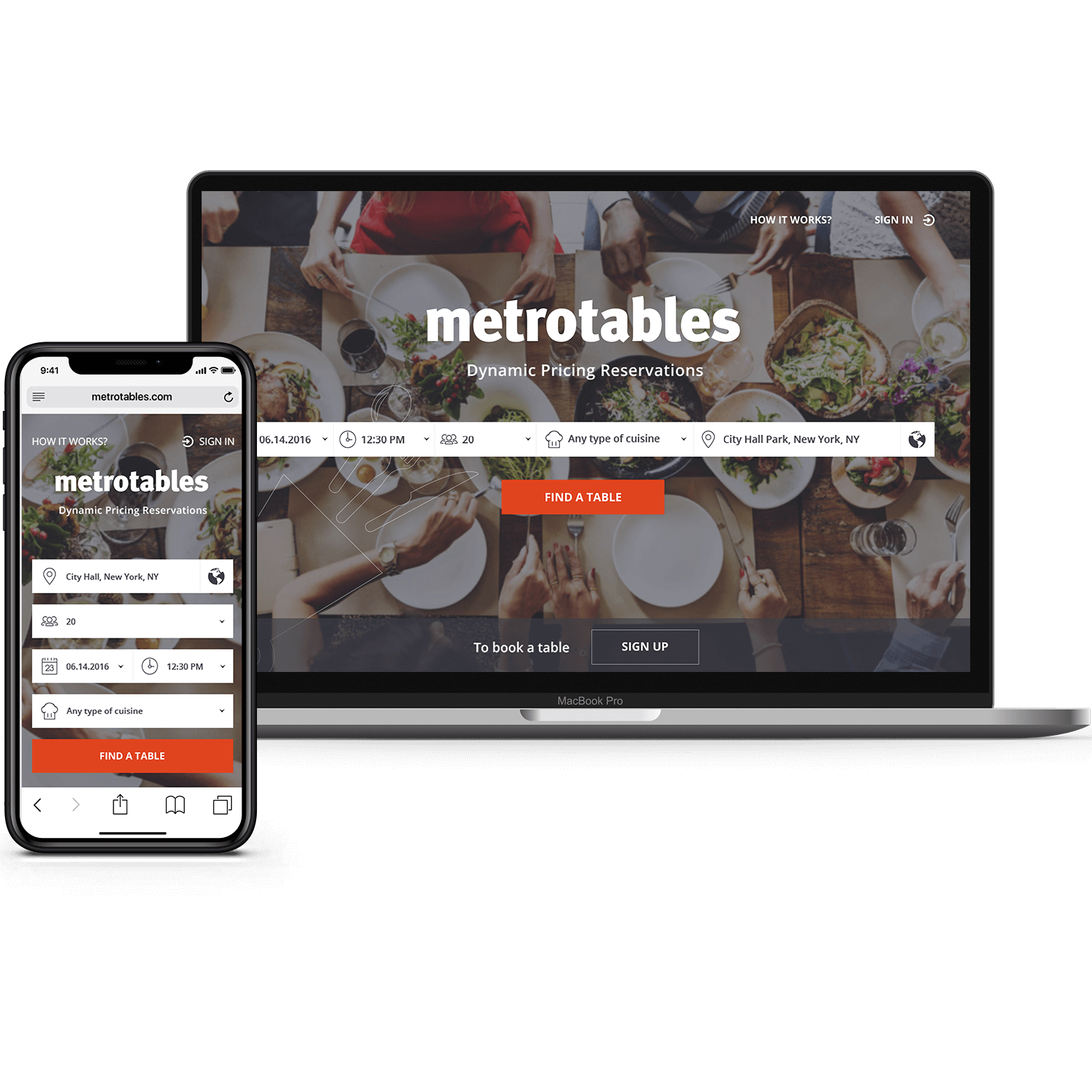 An online platform for dynamic pricing services and reservations at restaurants