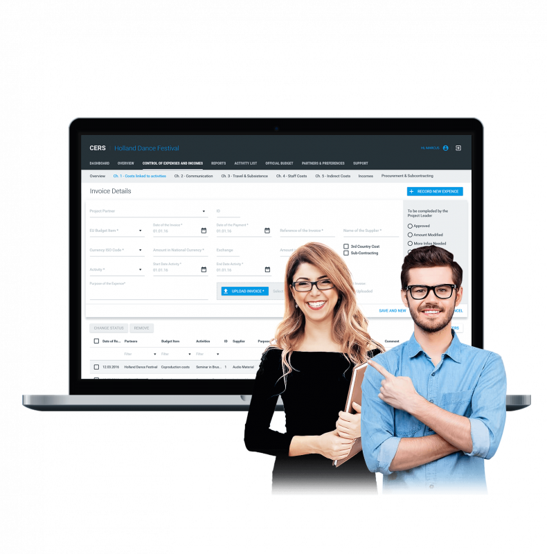 Ruby on Rails-based SaaS solution for efficient financial management of EU projects