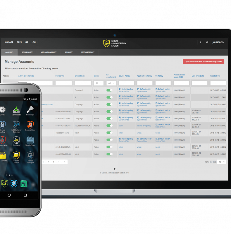Secure Phone is a device with a custom operating system designed for encrypted communication and data storage