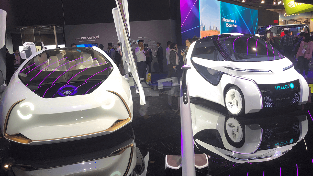 Self-driving cars and connected cars at CES 2018