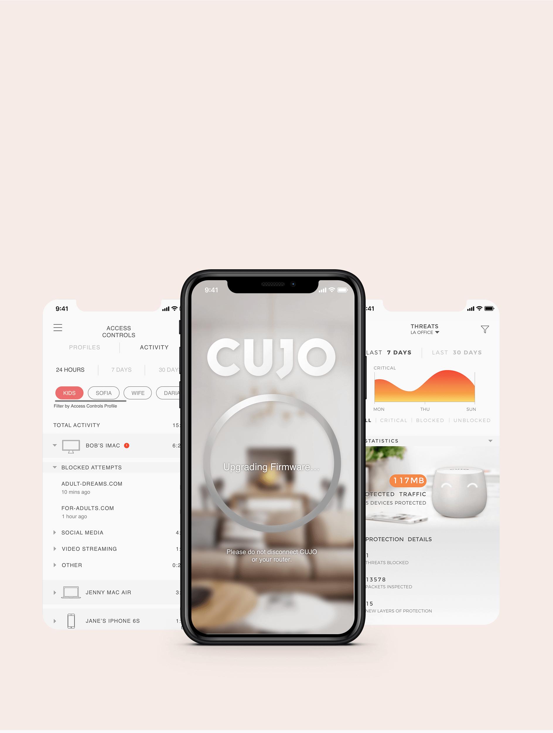 IoT app development for smart home firewall device CUJO