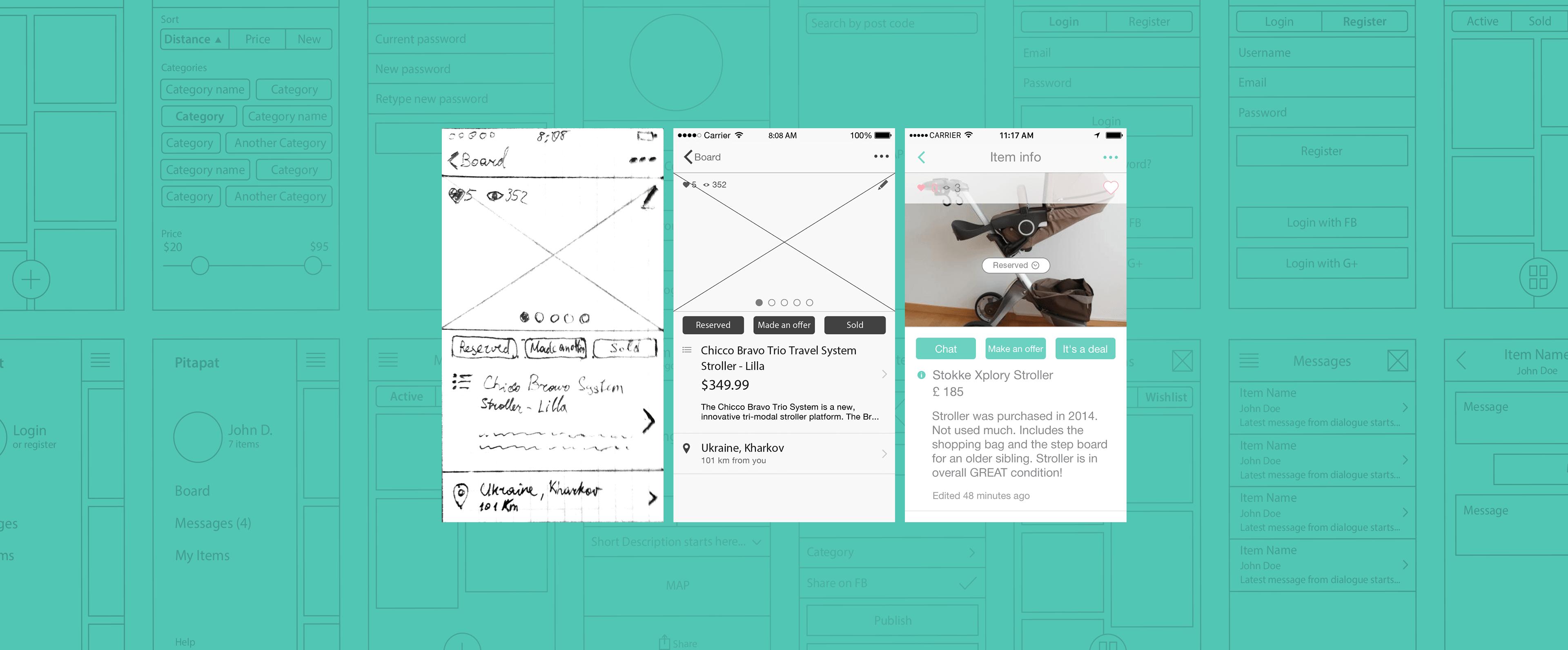An online marketplace landing page development
