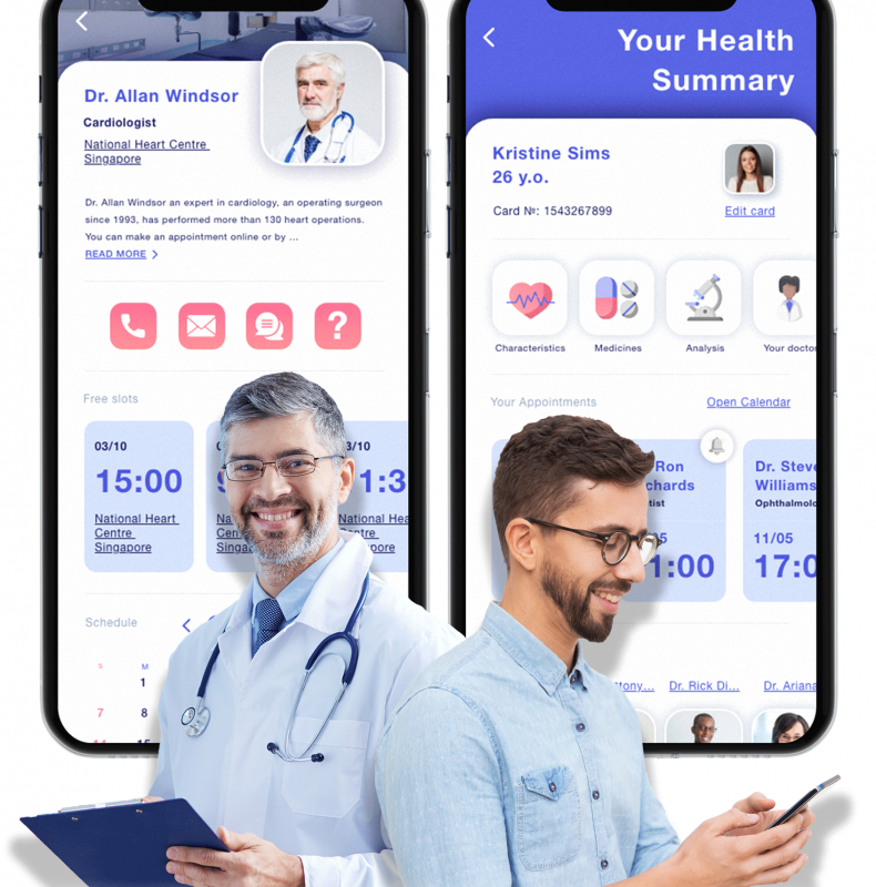 Cross-platform Mobile and Web solutions to integrate patient-doctor interactions and data exchange