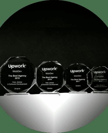 MobiDev awards as the best Web, Mobile & Software Development Agency in Ukraine