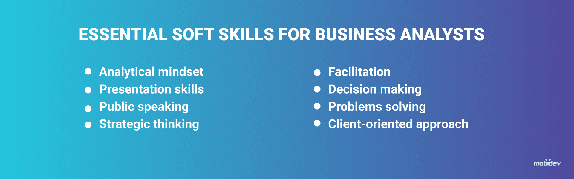 Soft Skills for a Great Business Analyst