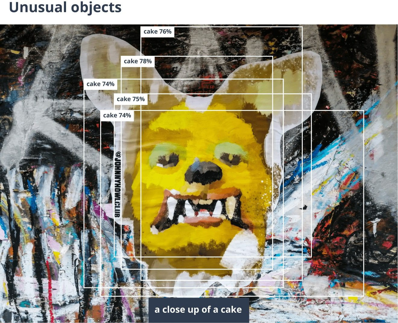 An error made by AI image captioning model